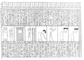 Chapter 168 B of the Book of the Dead.