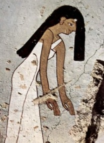 Mourning woman of Minnakht's tomb. www.1st-art-gallery.com