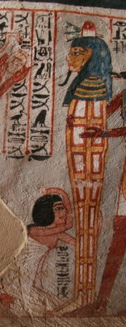 Women mourning beside the mummy. Tomb of Roy in Dra Abu el-Naga. Photo: Mª Rosa Valdesogo Martín.