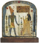 Funerary stele of Lady Taperet with an image of Nut in nwn gesture. XXII Dynasty. Musée du Louvre. Photo: www.nybooks.com