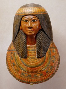 Khonsu's funerary mask. XIX Dynasty. Metropoliltan Museum of New York. Photo: www.metmuseum.org