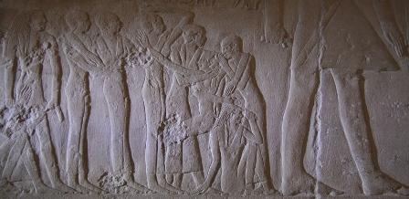 Mourners in the tomb of Mereruka at Saqqara. VI Dynasty. Photo: Mª Rosa Valdesogo Martín