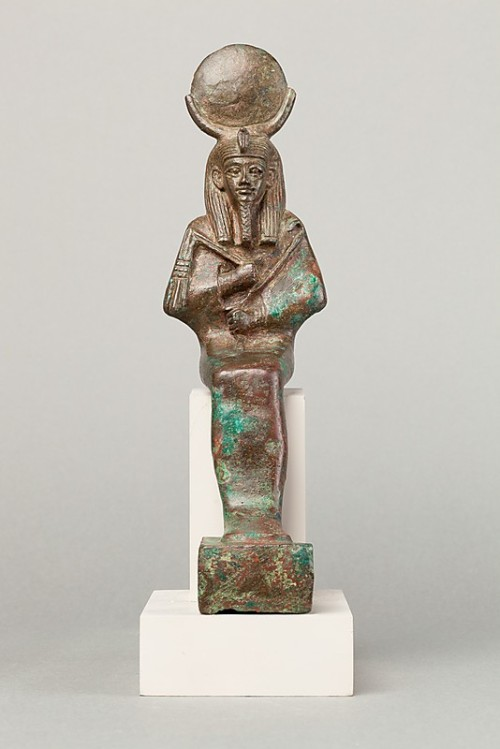 Bronze statue of Osiris in his lunar facet. Late Period. Photo: www.metmuseum.org