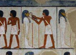 Opening of the mouth ceremony from the tomb of menna in gourna xviii