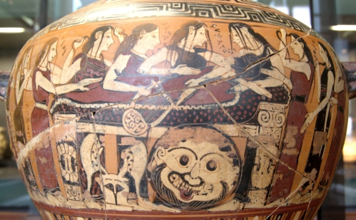 Thetis and the Nereids mourning the death of Achilles. Musée du Louvre. VI BC. Photo: www.commons.wikimedia.org