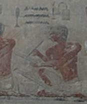 Scribes from the mastaba of Ty in Saqqara. VI Dynasty.