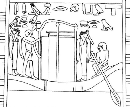 Scene of the funerary procession from the mastaba of Idu in Giza. The two Drty appear with short hair. VI Dynasty. Image from Simspon, W. K., The Mastabas of Qar and Idu. G 7101 and 7102, Boston, 1976, fig. 35