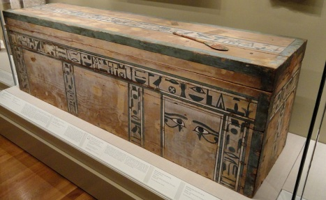 Coffin of Senbi from Meir. XII Dynasty. Ancient Egypt.