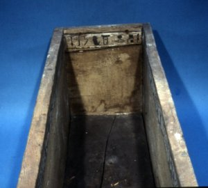 Coffin of Sepi from el-Bersha. XII Dynasty. Inner head end with the name of Nehtys. Ancient Egypt.