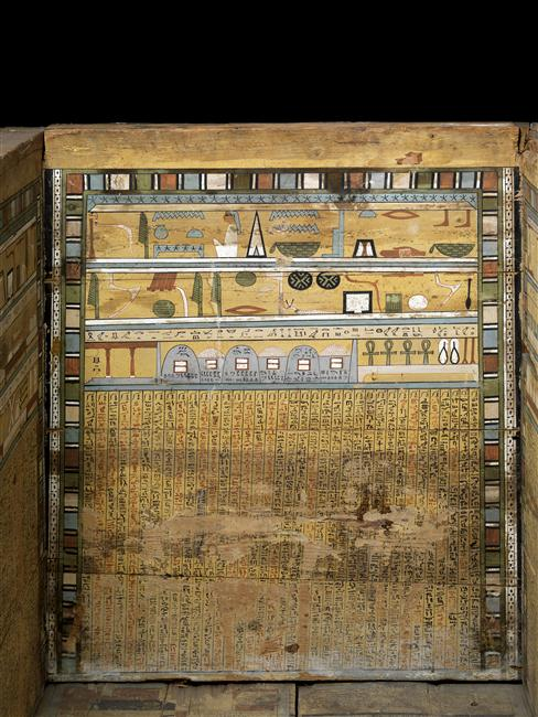 Coffin of Sopi from el-Bersha. XII Dynasty. Musée du Louvre. Ancient Egypt.