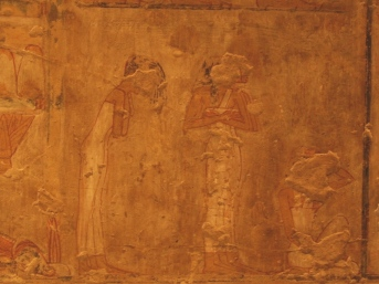 Common Mourners in the tomb of Rekhmire. Ancient Egypt.