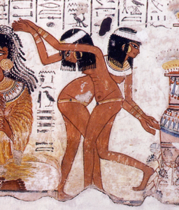 Dancers and musicians from the tomb of Nebamon (TT 90). XVIII Dynasty. Ancient Egypt.