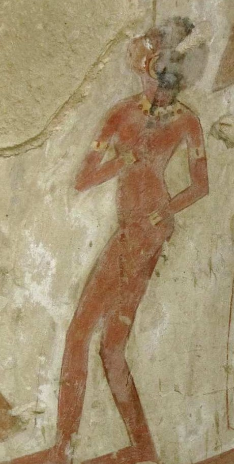 Dancing girl. Tomb of Dyeserkaraseneb (TT 38). XVIII Dynasty. Ancient Egypt.