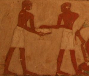 Man spinning his body around. Tomb of Rekhmire. Ancient Egypt. Egyptian Art