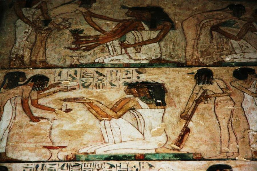 Hair: a Resource in Ancient Egypt Art for Expressing Movemen Musician-girls-in-rekhmires-tomb-ancient-egypt