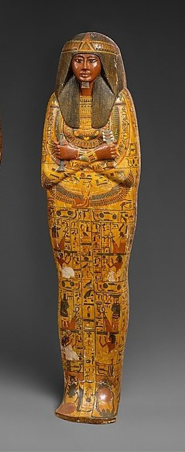 Coffin of Khonsu. XIX Dynasty. From Deir el-Medina. Ancient Egypt.