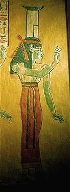 Nephthys in the tomb of Khaemwaset. XX Dynasty. Ancient Egypt.