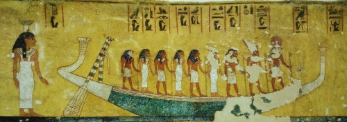 Scene of the Book of the Dead from the tomb of Ay. XVIII Dynasty. Ancient Egypt.