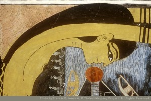 Nut swallowing the sun disk. Book of the Day. Tomb of Ramses V-VI. Ancient Egypt. Thebanmapingproject