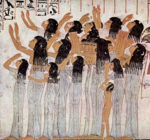 Common mourners from the tomb of Ramose. XVIII Dynasty. Ancient Egypt. photo wikimedia