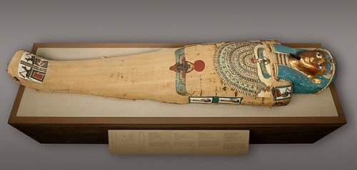 Cartonnage on the mummy of Irtirutja from Ptolemaic Period. Ancient Egypt. Metropolitan Museum of New York.