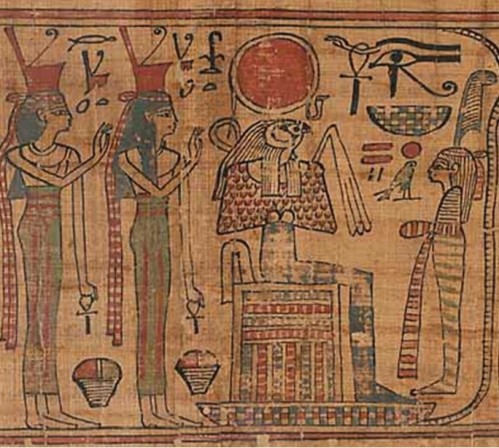 Book of the Dead of Nespakashuty. XXI Dynasty. Musée du Louvre. Ancient Egypt