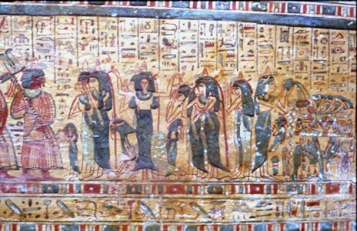 Common mourners in the coffin of Amenemipet. XXI Dynasty. British Museum. Ancient Egypt