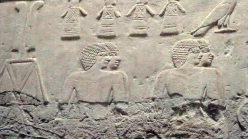 Relief with superposition from th etomb of Kagemni. Ancient Egypt. osisrisnet