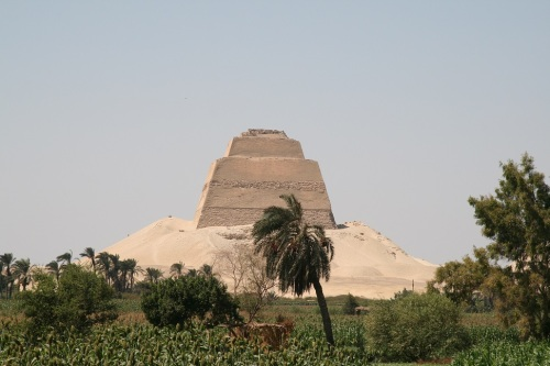 Pyramid of Meidum. Ancient Egypt