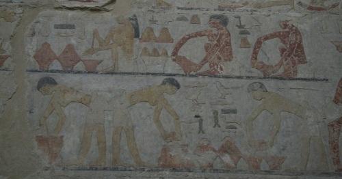 Making Bread. Mastaba of Ty in Saqqara. V Dynasty. Photo Mª Rosa Valdesogo. Ancient Egypt
